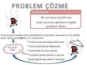 PROBLEM ZME PROBLEM Bir sorunun zlmesi veya Almas