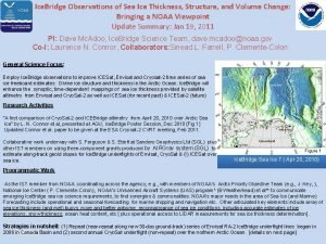 Ice Bridge Observations of Sea Ice Thickness Structure