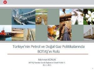 Trkiyenin Petrol ve Doal Gaz Politikalarnda BOTAn Rol