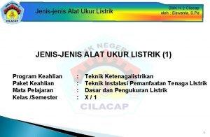 Jenisjenis Alat Ukur Listrik SMK N 2 Cilacap