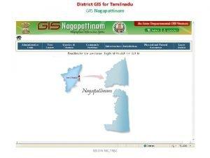 District GIS for Tamilnadu GIS Nagapattinam GIS DIV