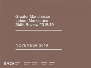 Greater Manchester Labour Market and Skills Review 201819