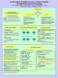 An Emerging Portable CoArray Fortran Compiler for HighPerformance