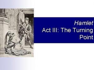 Hamlet Act III The Turning Point Act III