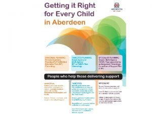 Getting it Right for Every Child in Aberdeen