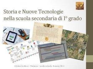 Storia e Nuove Tecnologie nella scuola secondaria di