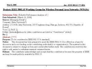 March 2008 doc IEEE 802 15 003 c