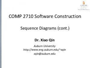 COMP 2710 Software Construction Sequence Diagrams cont Dr