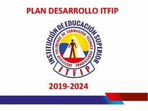PLAN DESARROLLO ITFIP 2019 2024 CONTENIDO IDENTIDAD INSTITUCIONAL