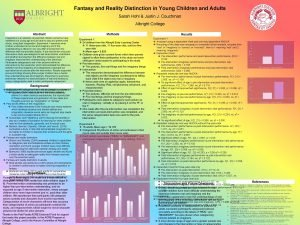 Fantasy and Reality Distinction in Young Children and