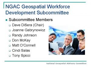NGAC Geospatial Workforce Development Subcommittee n Subcommittee Members