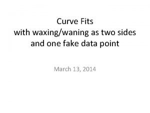 Curve Fits with waxingwaning as two sides and