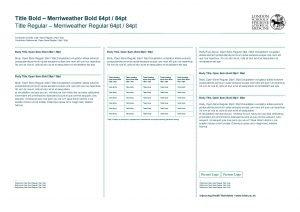 Title Bold Merriweather Bold 64 pt 84 pt