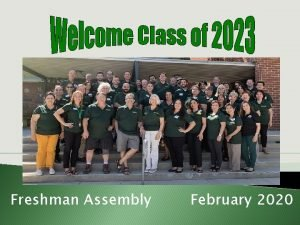 Freshman Assembly February 2020 Handouts Sophomore Schedule Planner