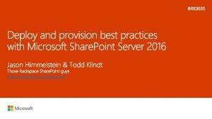 http sharepoint rackspace com Todd Klindt Share Point