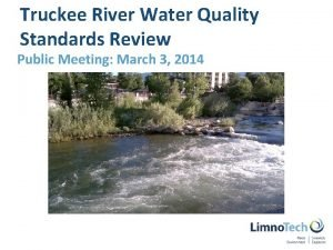 Truckee River Water Quality Standards Review Public Meeting