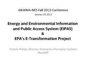 AWMANES Fall 2013 Conference October 25 2013 Energy
