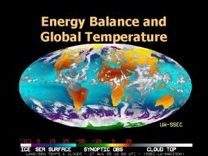 Energy Balance and Global Temperature Global Temperature Controls