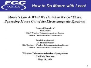How to Do Moore with Less Moores Law