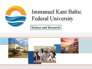Immanuel Kant Baltic Federal University Science and Research