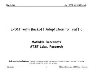 March 2001 doc IEEE 802 11 01145 r