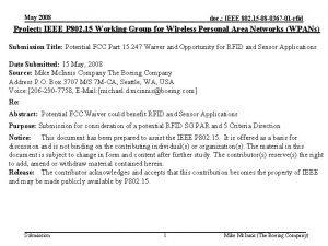 May 2008 doc IEEE 802 15 08 0367