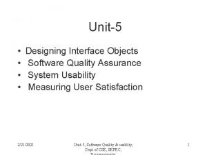 Unit5 Designing Interface Objects Software Quality Assurance System