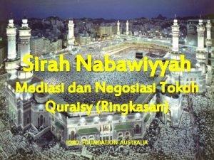 Sirah Nabawiyyah Mediasi dan Negosiasi Tokoh Quraisy Ringkasan