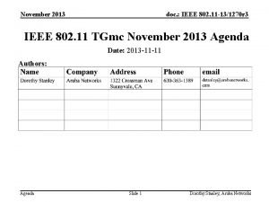 November 2013 doc IEEE 802 11 131270 r