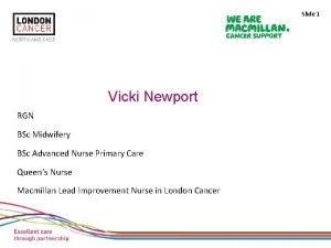 Slide 1 Vicki Newport RGN BSc Midwifery BSc