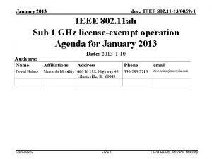 January 2013 doc IEEE 802 11 130059 r