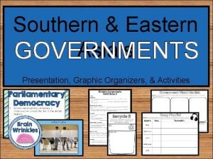 Southern Eastern Asias GOVERNMENTS Presentation Graphic Organizers Activities