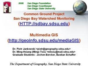 2006 San Diego Foundation San Diego Coastkeeper San