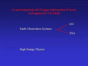 La partecipazione del Gruppo Informatica di Lecce al