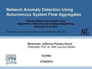 Network Anomaly Detection Using Autonomous System Flow Aggregates