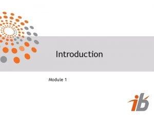Introduction Module 1 Introduction Sommaire Module 1 Rappel