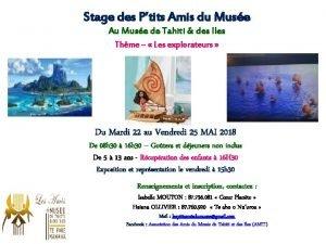 Stage des Ptits Amis du Muse Au Muse