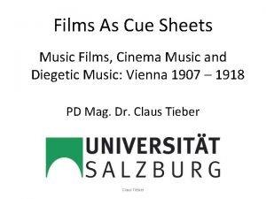 Films As Cue Sheets Music Films Cinema Music