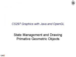 CS 297 Graphics with Java and Open GL