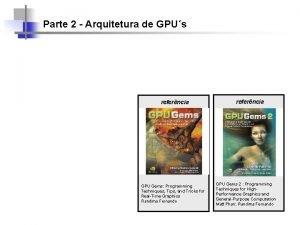 Parte 2 Arquitetura de GPUs referncia GPU Gems