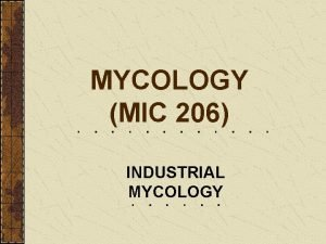 MYCOLOGY MIC 206 INDUSTRIAL MYCOLOGY FOOD AND BEVERAGE