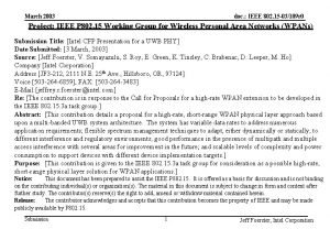 doc IEEE 802 15 03109 r 0 March