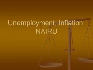 Unemployment Inflation NAIRU Unemployment n Civilian labor force