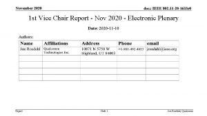 November 2020 doc IEEE 802 11 20 1633