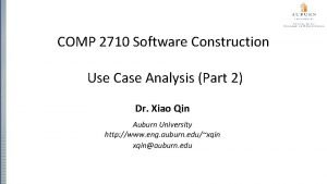COMP 2710 Software Construction Use Case Analysis Part