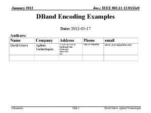 January 2012 doc IEEE 802 11 120133 r
