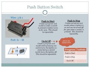 Push Button Switch Wire 3 1 Push to