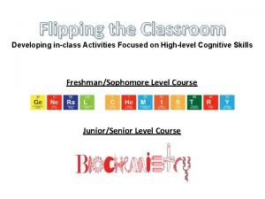 Flipping the Classroom Developing inclass Activities Focused on