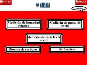 contctenos Medicin de humedad relativa Medicin de punto