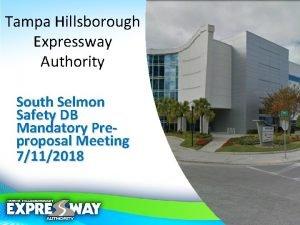 Tampa Hillsborough Expressway Authority South Selmon Safety DB